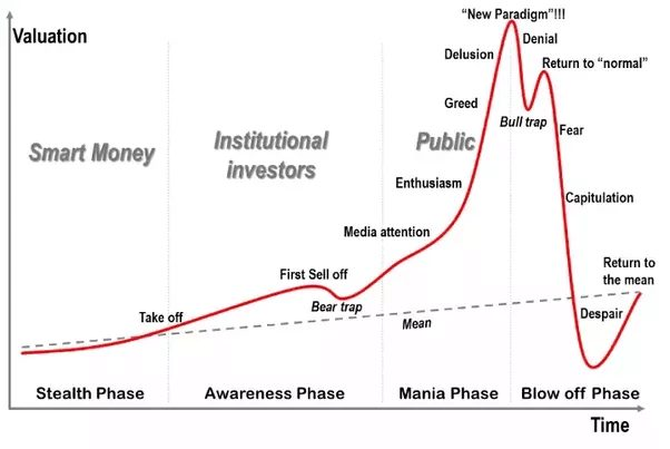 Cryptocurrency Bull Market Graph