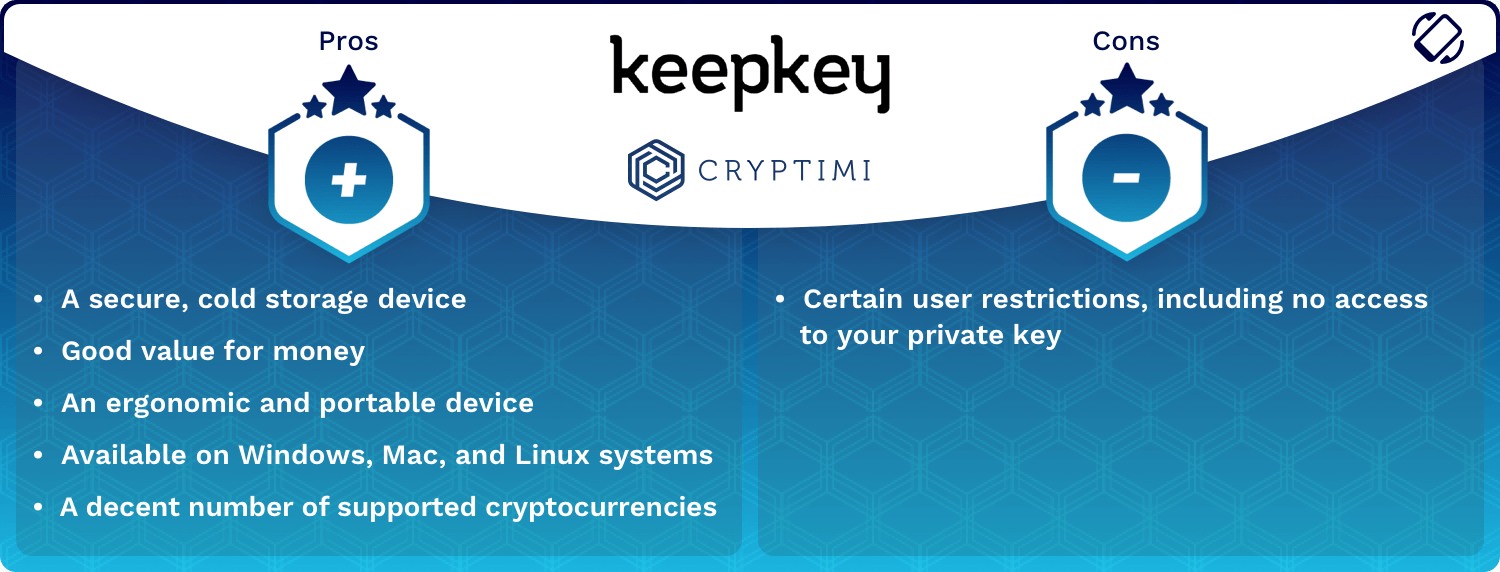 KeepKey Wallet Pros and Cons