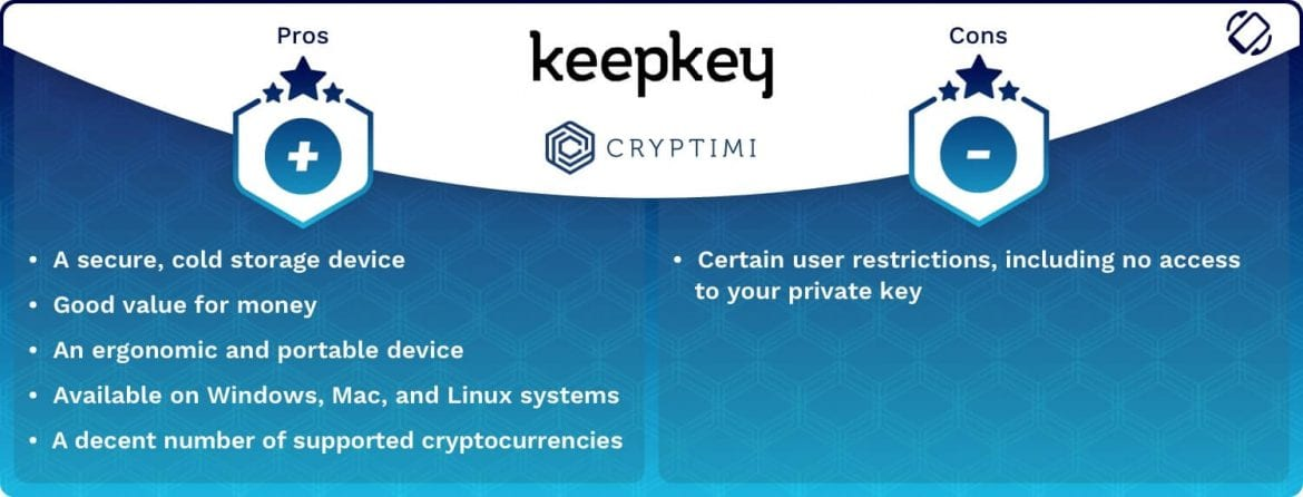 KeepKey - Pros and Cons