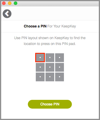 KeepKey Set PIN