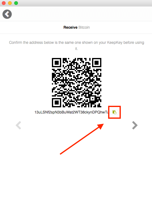 KeepKey Receive - QR Code
