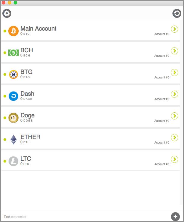 KeepKey wallet page