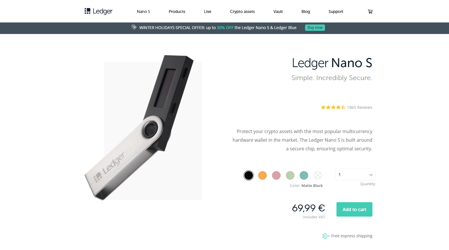 Ledger Nano S BCH Wallet