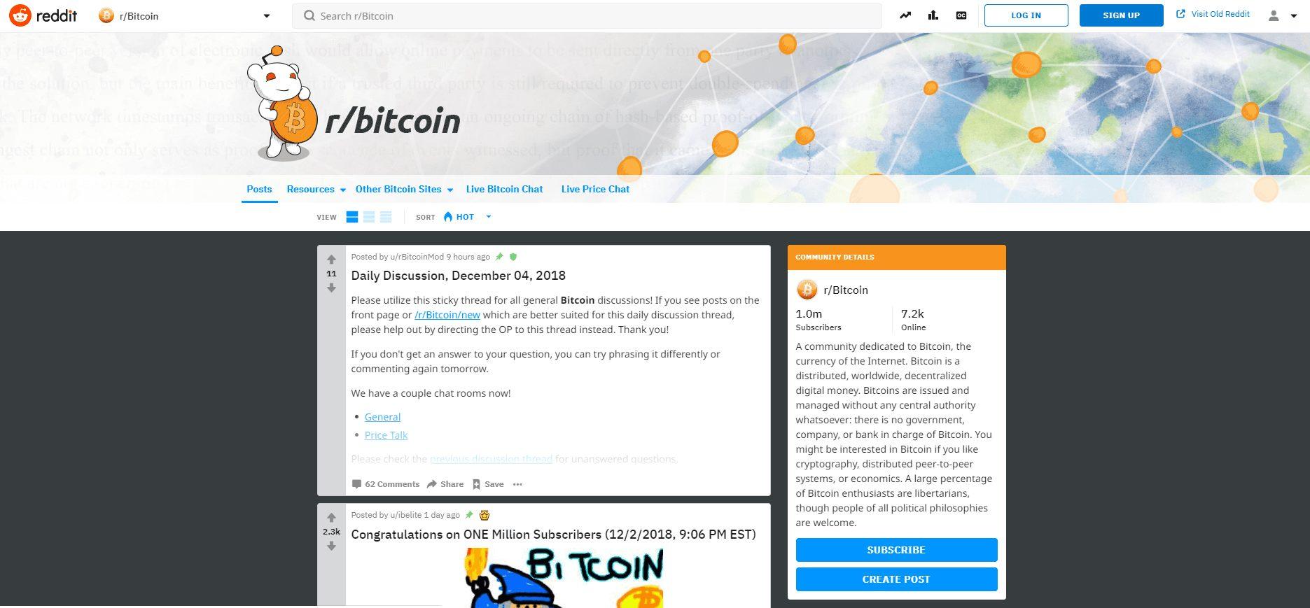 Reddit Bitcoin Post Forum