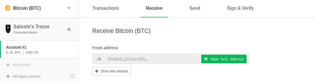 Trezor Receive Crypto