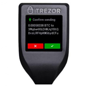 Trezor - Bestätigung des Versendens von Krypto-Währung