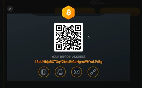 Your Exodus BTC Address
