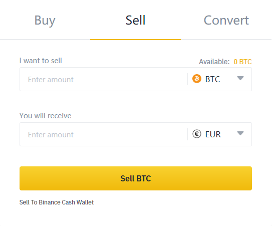 Binance Sell Cryptocurrency