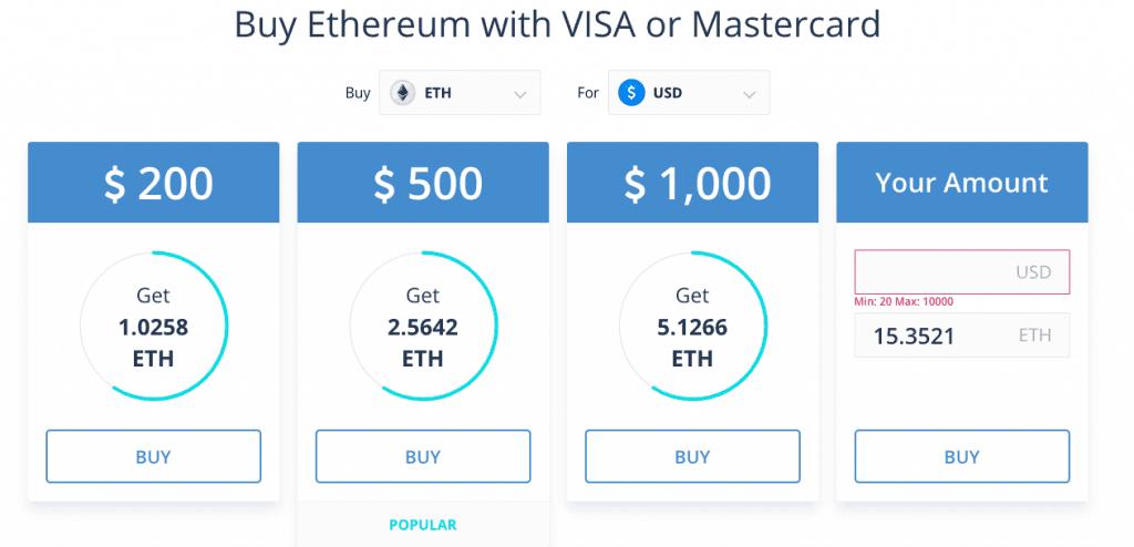 CEX Visa Ethereum