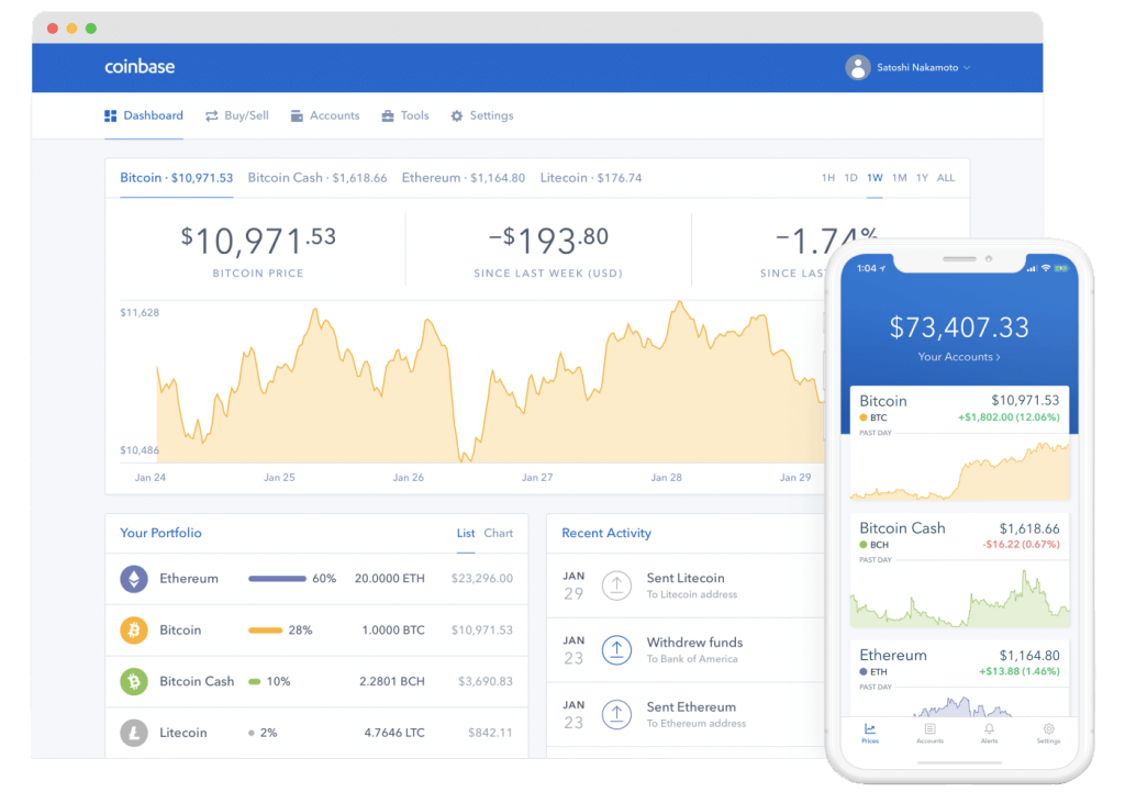 Coinbase Trading Interface