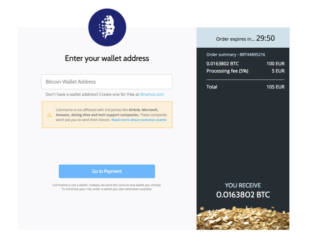Coinmama BTC Wallet Address Review