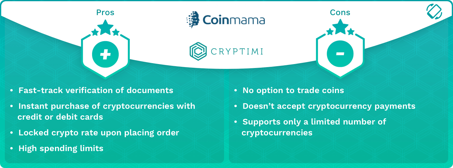 Coinmama Pros and Cons