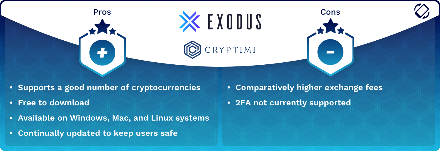 Exodus Wallet Pros and Cons
