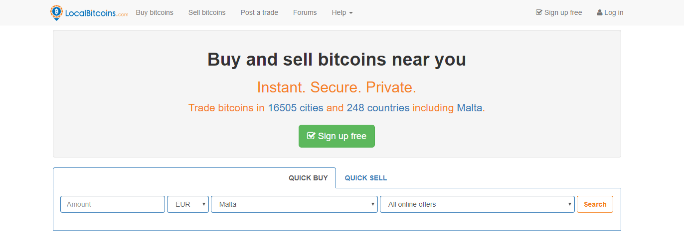 Local Bitcoins Cash For Crypto Trading Site