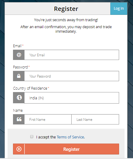 BitMEX Signup