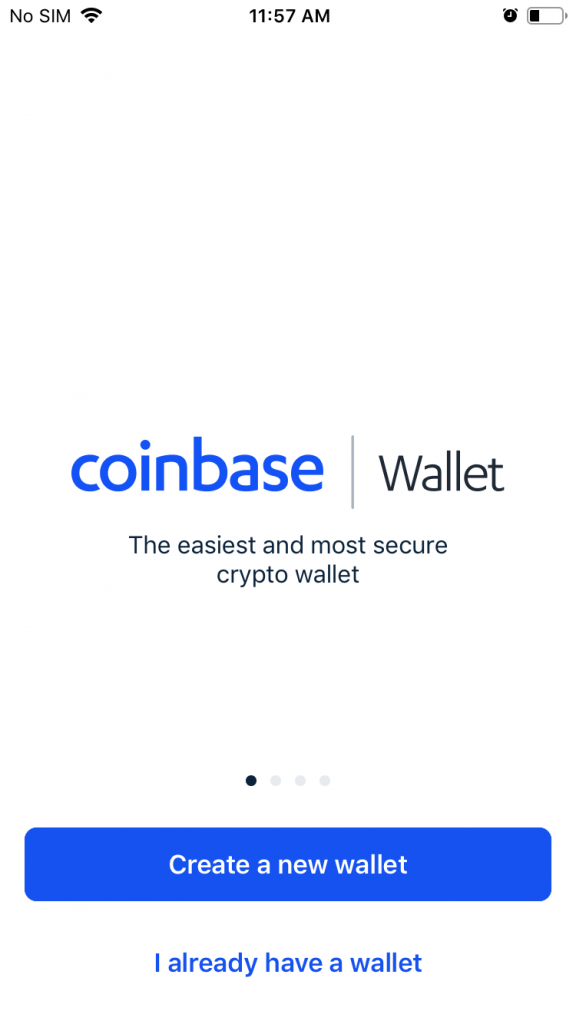 Coinbase - Creating a Wallet 1