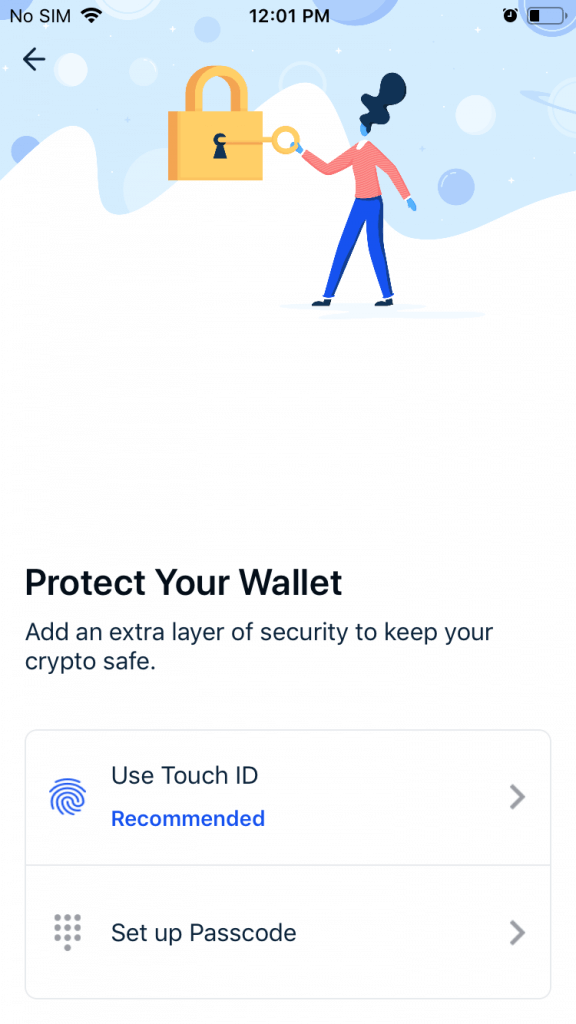 Coinbase - Touch ID