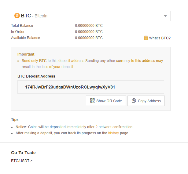 Binance Deposit Cryptocurrency