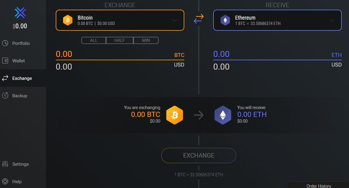 Exodus - Exchange Crypto