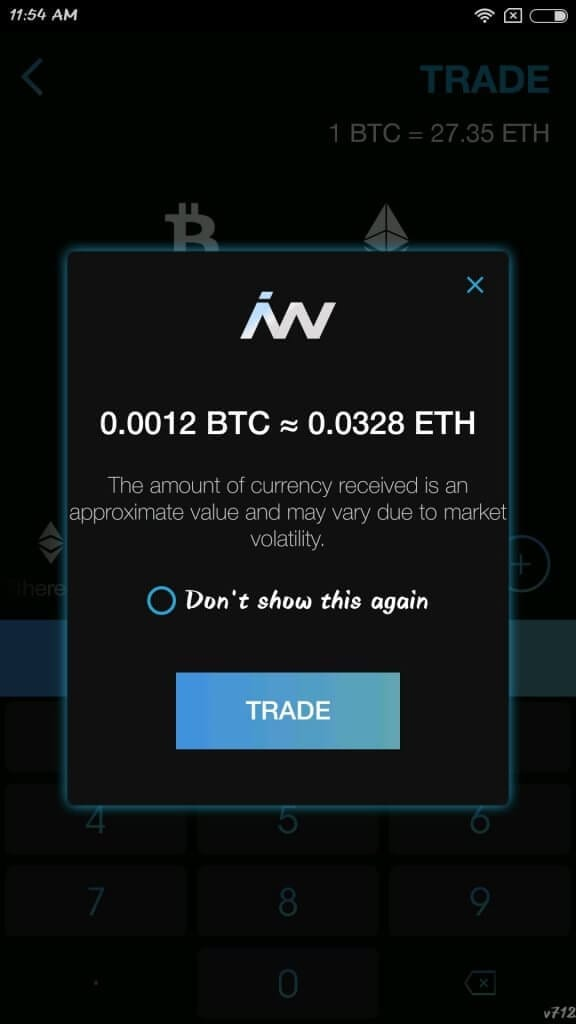 Indacoin wallet trade confirmation