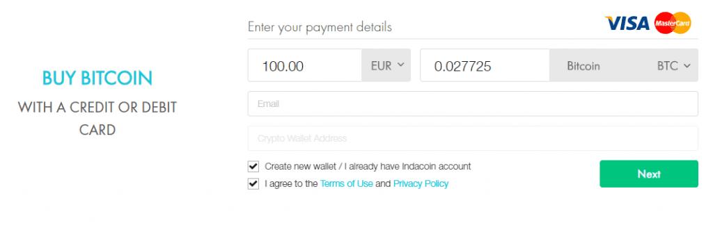 indacoin buy bitcoin screen 3
