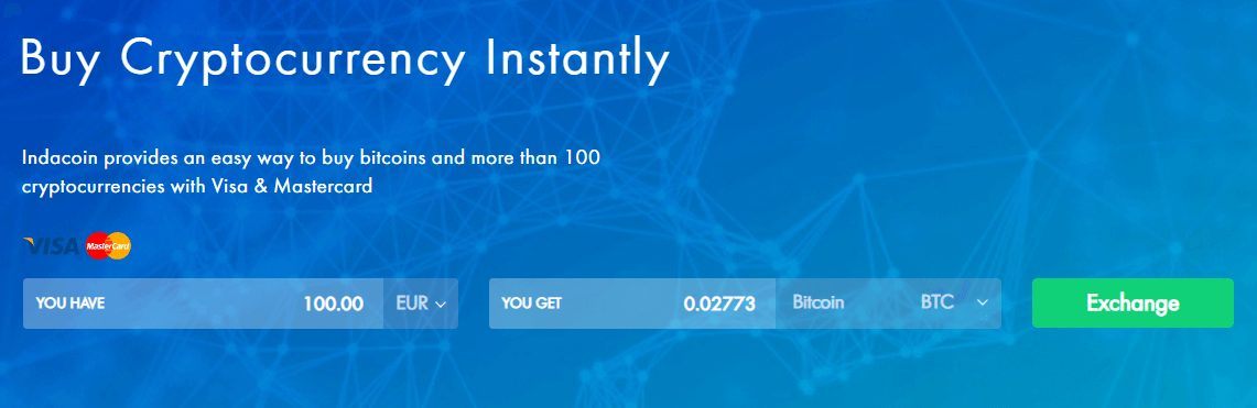 Indacoin buy cryptocurrency