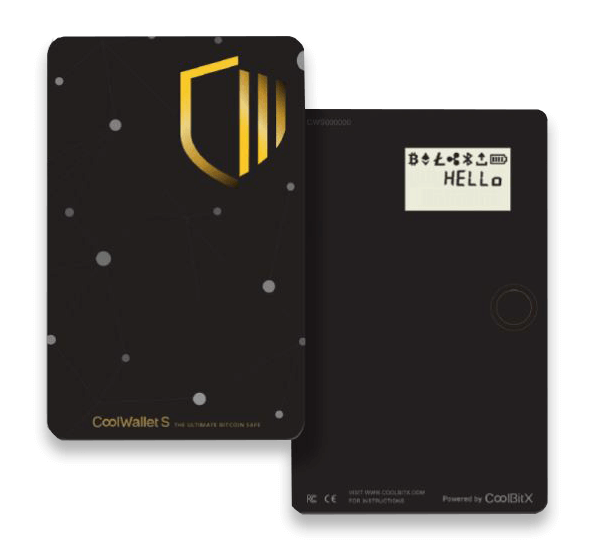 Coolwallet S Card Back and Front Review