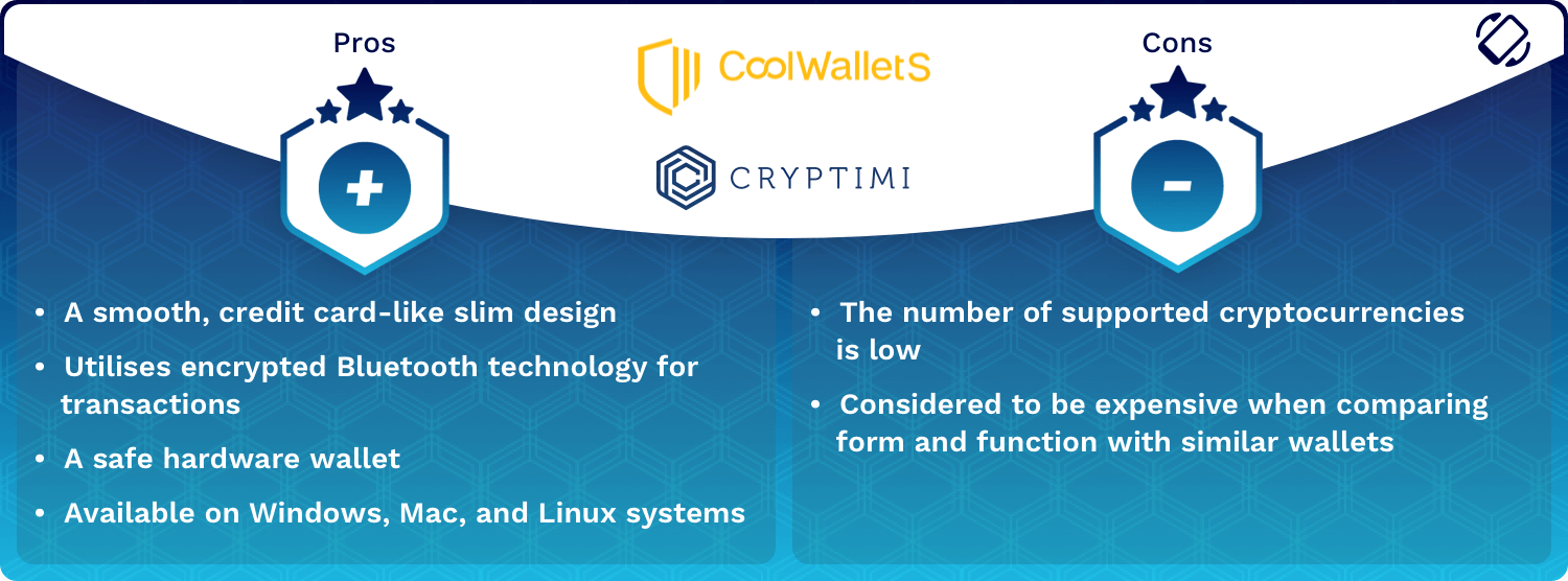 CoolWallet S Wallet Pros and Cons