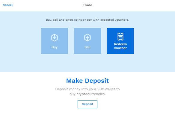 Bitpanda Trading Screen