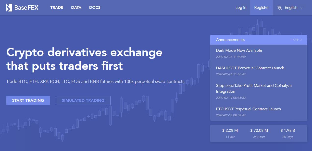 BaseFEX Landing Page