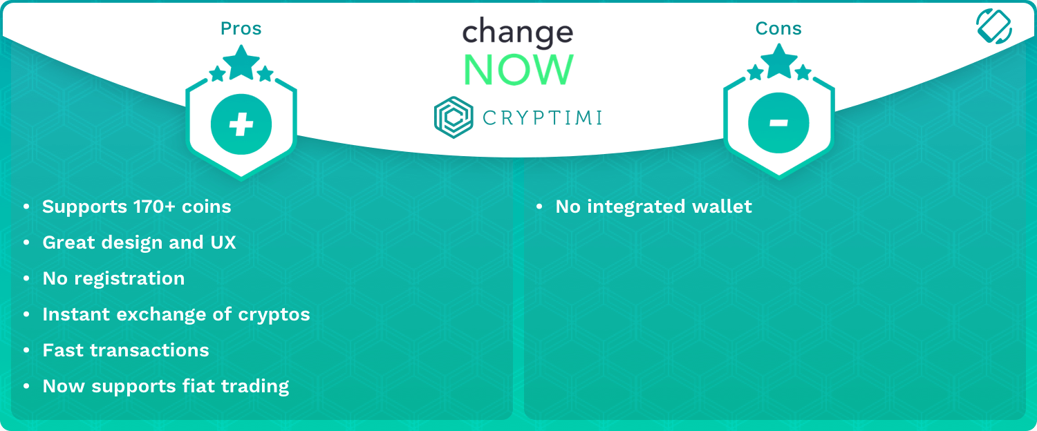 ChangeNow Pros and Cons