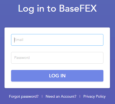 BaseFEX Derivative Exchange Login