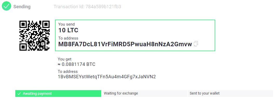 ChangeNOW Buy BTC Step 4