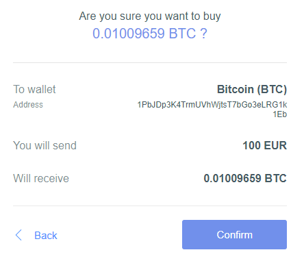 Guarda Wallet - Buy Confirmation