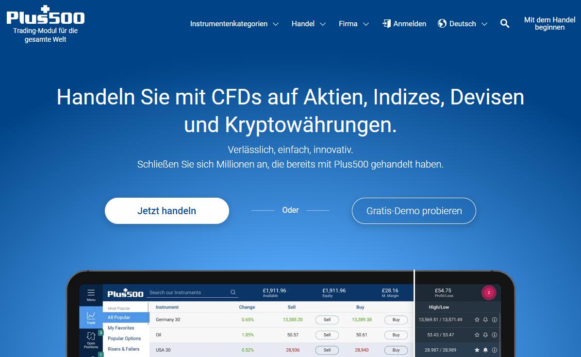 Überprüfung der Plus500 CFD-Handelsplattform