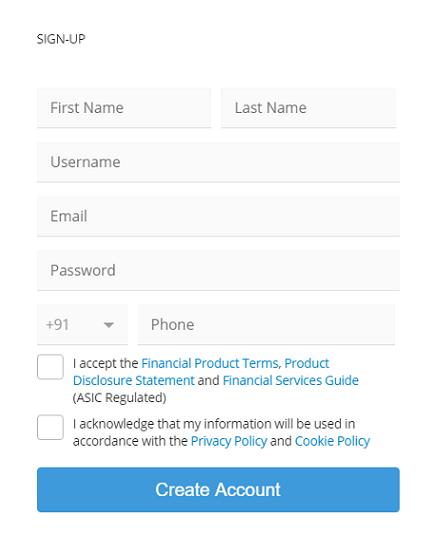 eToro Platform Signup