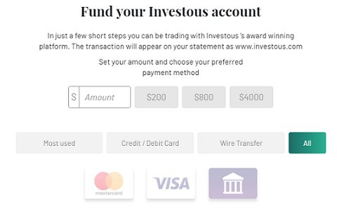 investous deposit funds