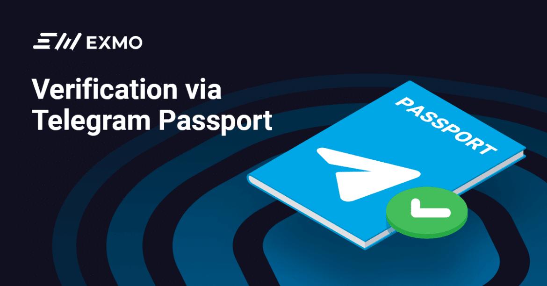 Exmo Incorporate Telegram Passport Option
