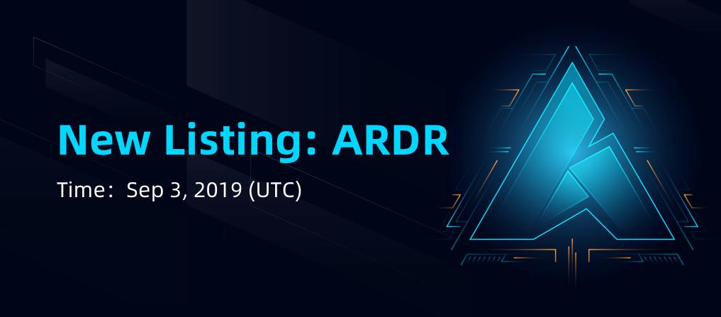 Ardor (ARDR) Online Now Listed On CoinEx