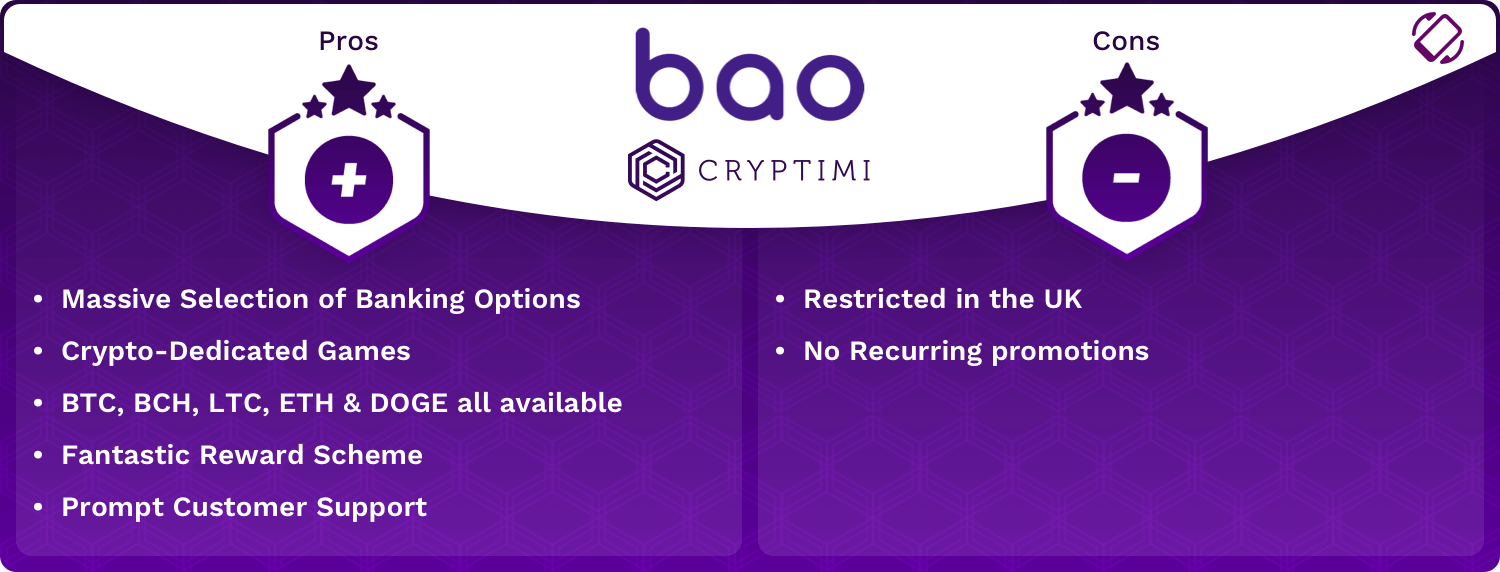Bao Pros and Cons Infographic