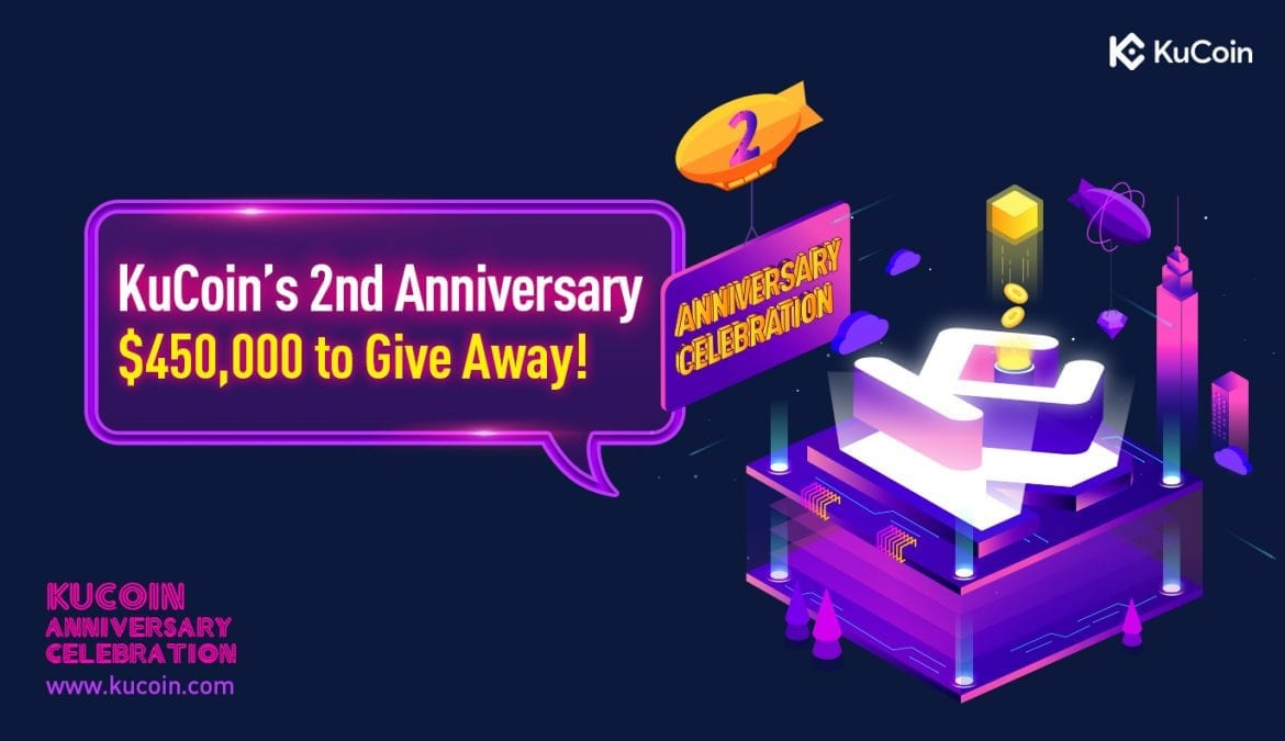 KuCoin Offer 2nd Anniversary Promotions Worth $450,000 to Users