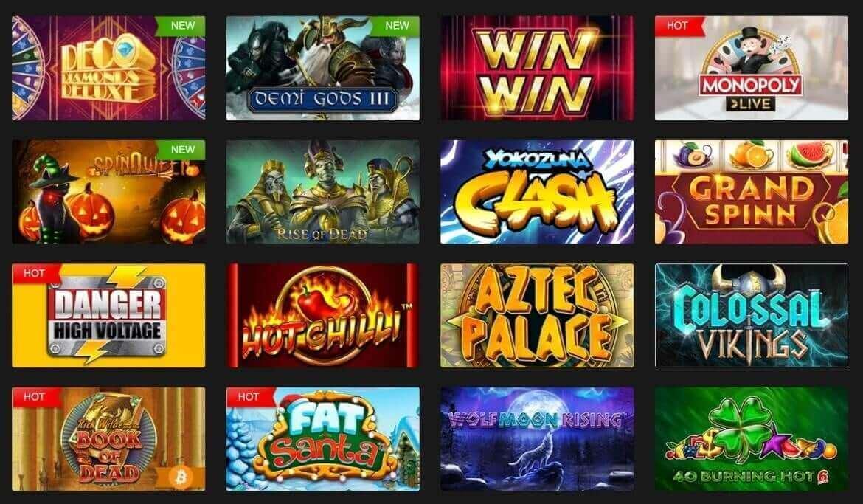 FastPay Casino - Spiele