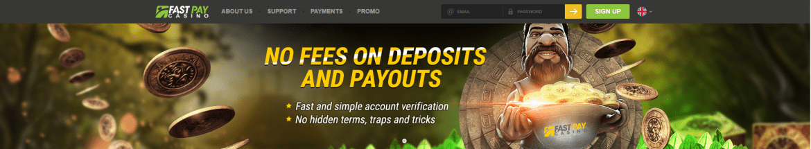 Fastpay Casino Landing Page Banner