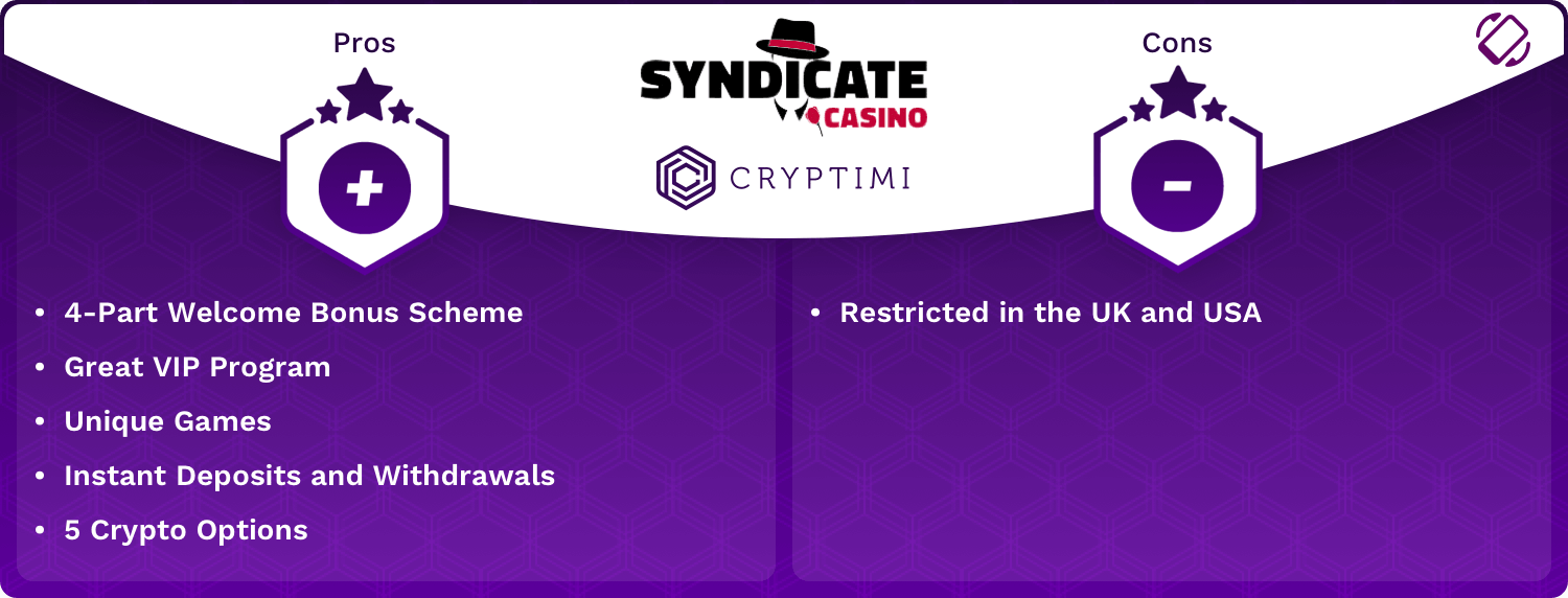 Syndicate Pros and Cons Infographic
