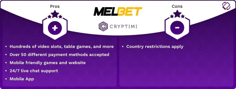 MelBet - Pros & Cons