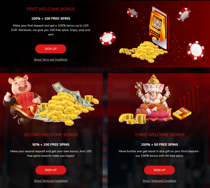 Oshi Casino - Welcome Bonus