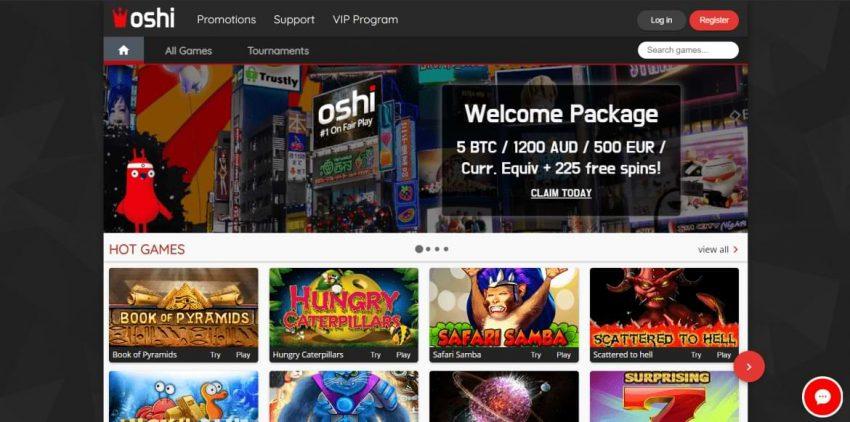 oshu casino homepage