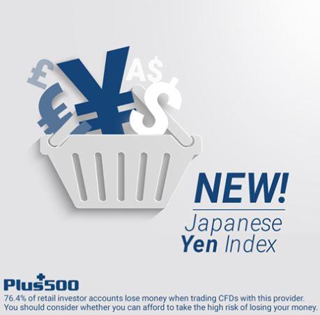 Plus500 Introduce Japanese Yen (JPY) Index