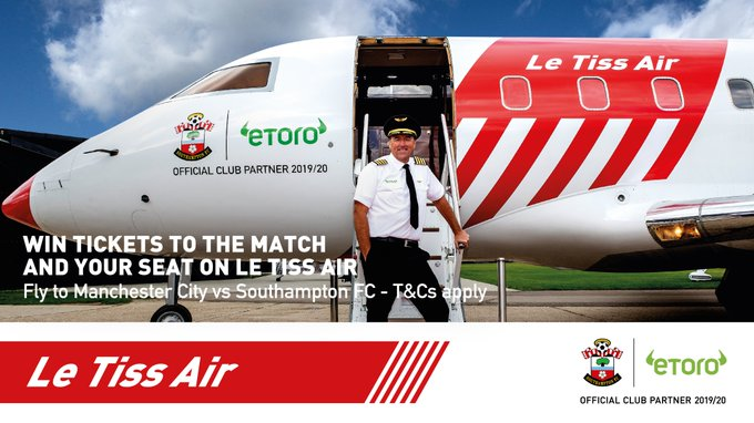 Win Free Southampton FC Tickets and Travel With eToro