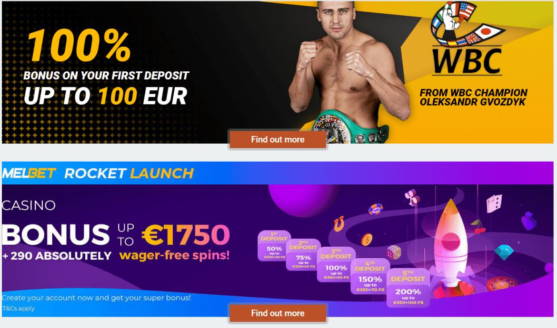 MelBet Casino Bonuses